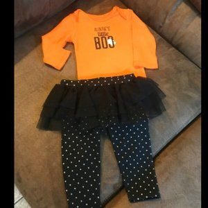 Carter's baby girl halloween outfit 6m
